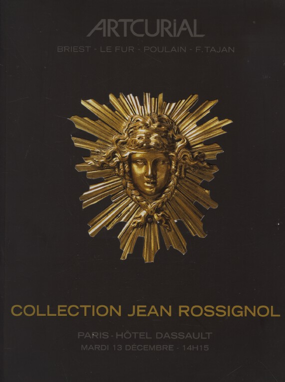 Artcurial Dec 2005 Jean Rossignol Collection French Furniture, Paintings, WoA