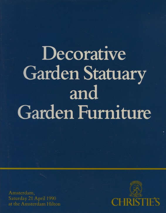 Christies April 1990 Decorative Garden Statuary / Furniture Pictures Silver etc