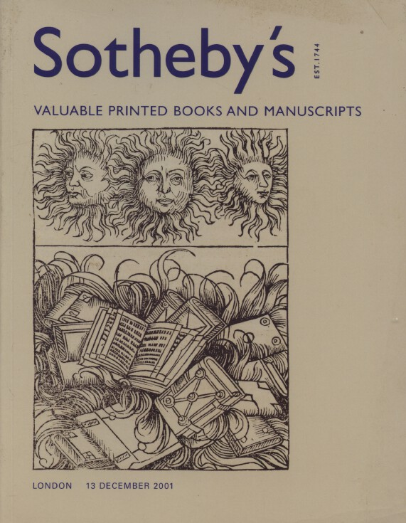 Sothebys December 2001 Valuable Printed Books and Manuscripts