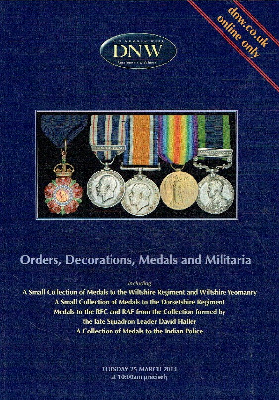 DNW March 2014 Orders, Decorations, Medals & Militaria [h_hat 1208