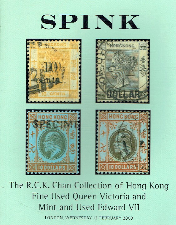 Spink Feb 2003 Stamps - Queen Victoria & Edward VII, Chan