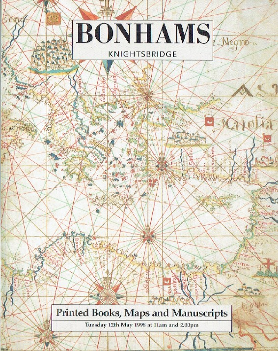 Bonhams May 1998 Printed Books, Maps & Manuscripts