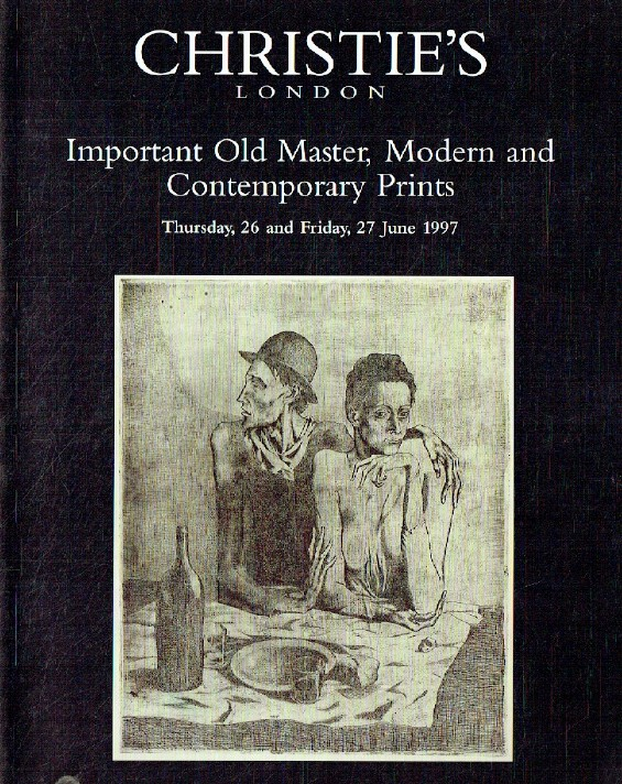 Christies June 1997 Important Old Master, Modern & Contemporary Prints