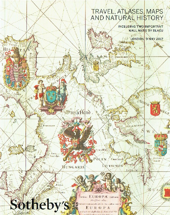 Sothebys May 2017 Travel, Atlases, Maps & Natural History inc. Maps by Blaeu