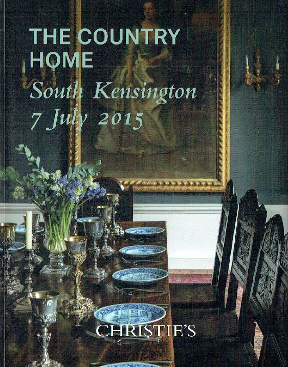 Christies July 2015 Country Home - Early Furniture & Works of Art