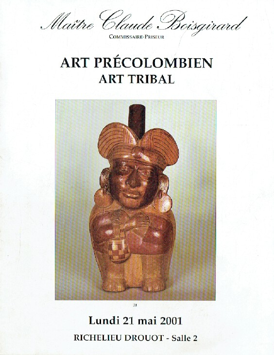 Boisgirard May 2001 Pre-Columbian & Tribal Art
