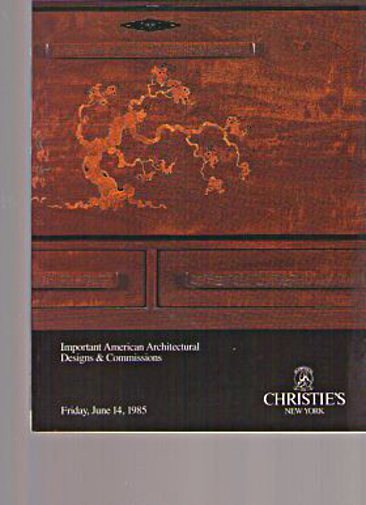 Christies 1985 American Architectural Designs