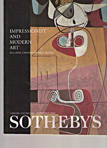 sothebys impressionist and modern art including ceramics by pablo picasso 25th october 2000