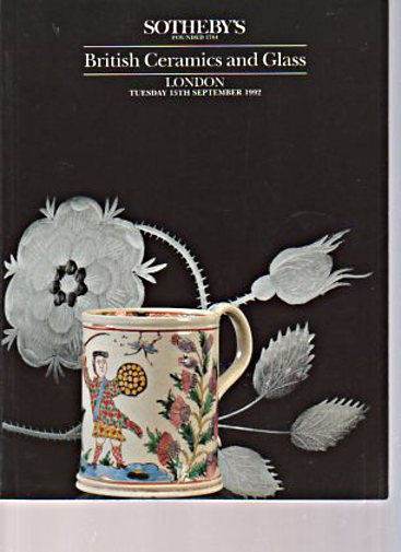 Sothebys September 1992 British Ceramics and Glass