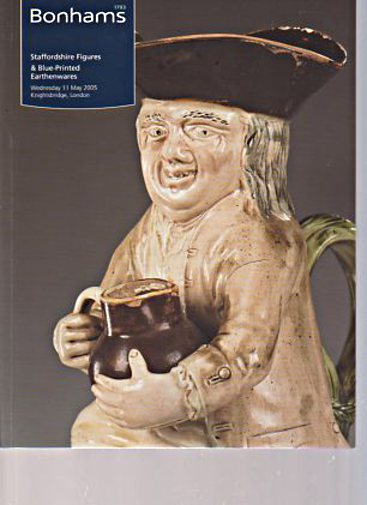 Bonhams 2005 Staffordshire Figures, Blue Printed Earthenwares
