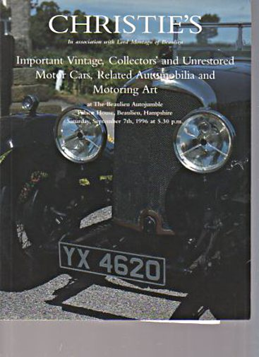 Christies 1996 Vintage & Collector's Motor Cars
