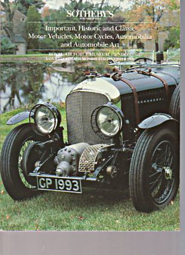 Sothebys December 1993 Historic & Classic Cars, Automobilia