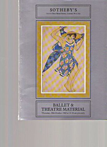Sothebys 1982 Ballet & Theatre Material