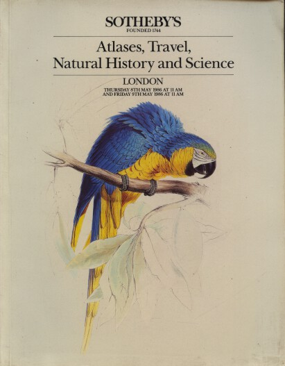 Sothebys 1986 Atlases, Travel, Natural History and Science