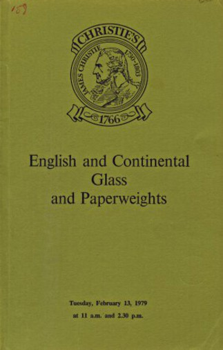 Christies 1979 English and Continental Glass and Paperweights