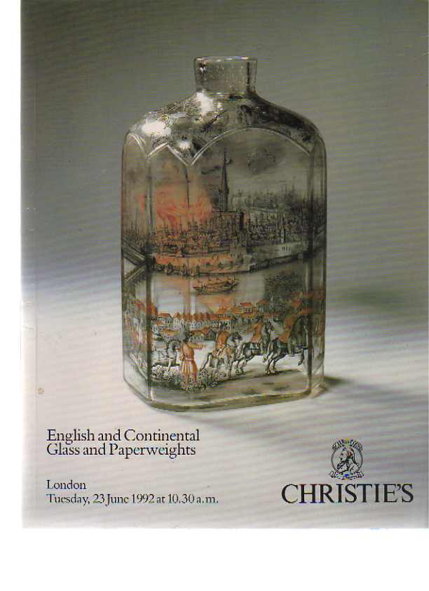 Christies June 1992 English & Continental Glass & Paperweights