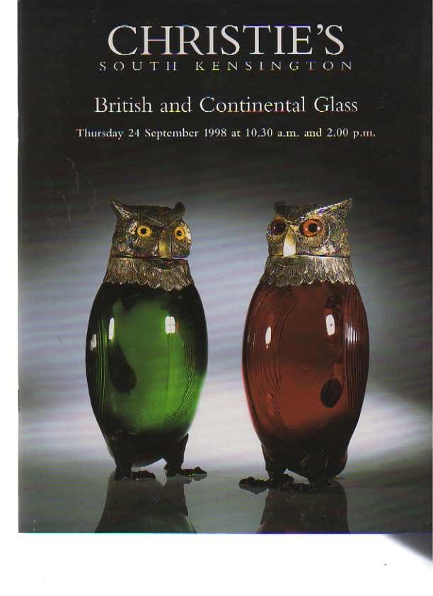 Christies 1998 British and Continental Glass