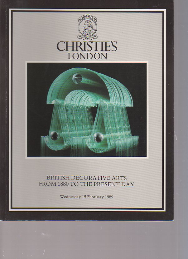 Christies 1989 British Decorative Arts from 1880