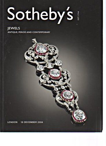 Sothebys 2004 Jewels Antique, Period & Contemporary