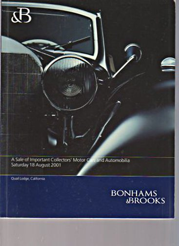 Bonhams & Brooks 2001 Important Collectors Motor Cars