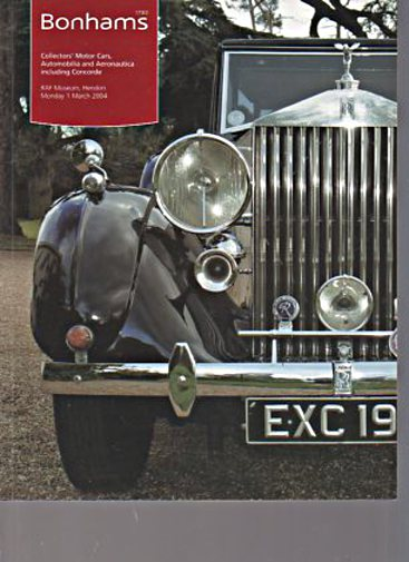 Bonhams 2004 Collectors Motor Cars, Aeronautica, Concord