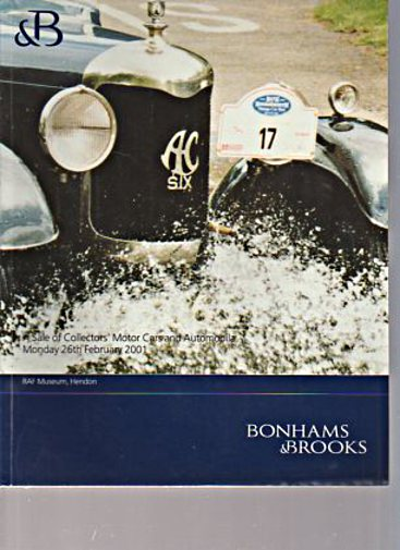 Bonhams & Brooks Feb 2001 Collectors Motor Cars & Automobilia