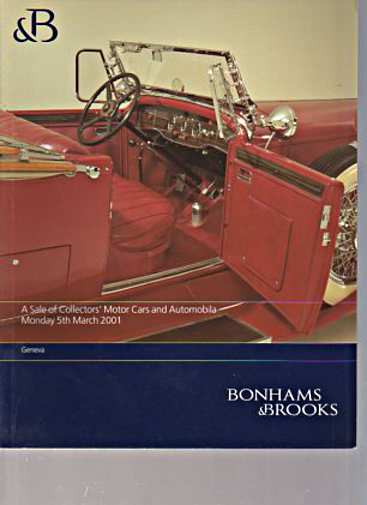Bonhams & Brooks March 2001 Collectors Motor Cars & Automobilia