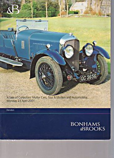 Bonhams & Brooks April 2001 Collectors Motor Cars & Automobilia