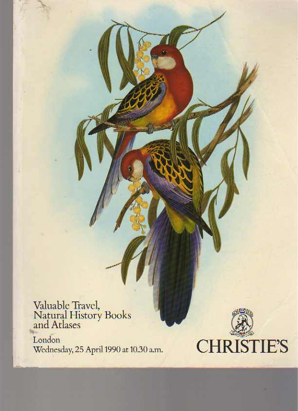 Christies 1990 Valuable Travel & Natural History Books & Atlases