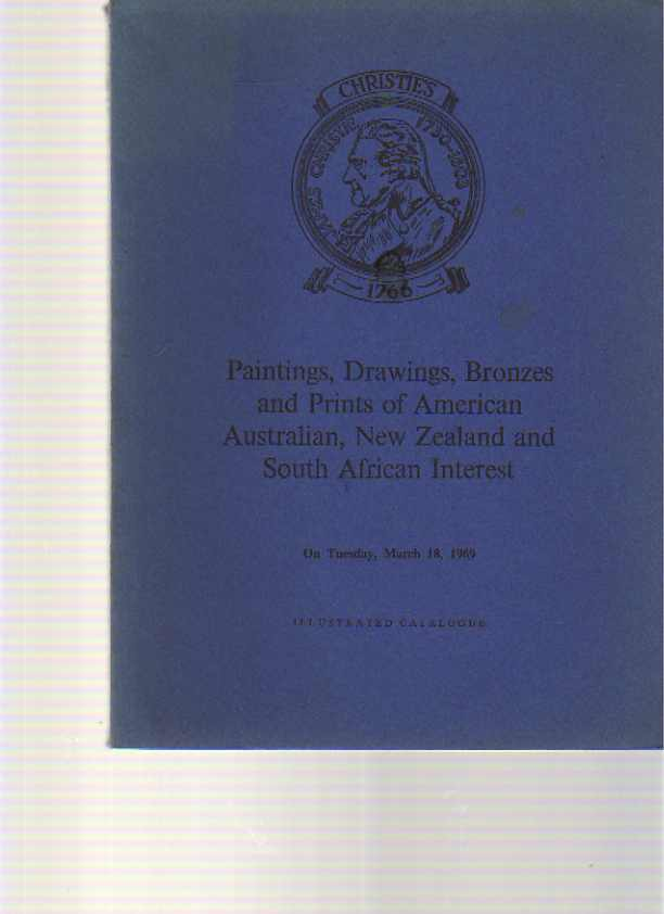 Christies 1969 Paintings, Bronzes of Australia, New Zealand