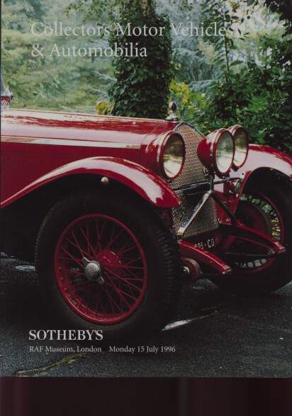 Sothebys 1996 Collectors Vehicles and Automobilia