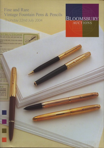 Bloomsbury 2004 Fine & Rare Vintage Fountain Pens, Pencils
