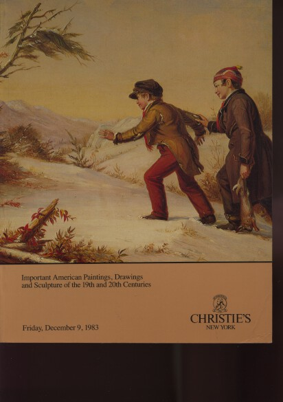 Christies 1983 Important American Paintings of the 19th & 20th C