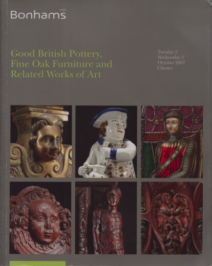 Bonhams 2007 Good British Pottery, Fine Oak Furniture