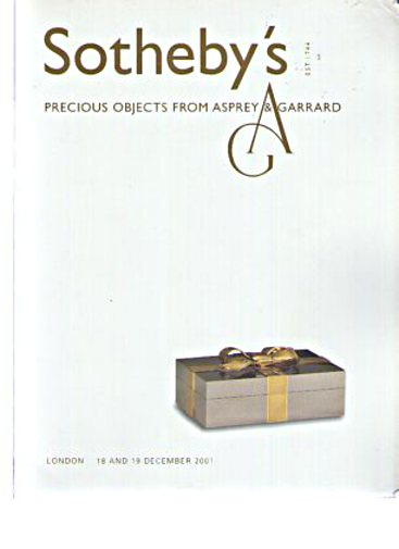 Sothebys 2001 Precious Objects from Asprey & Garrard