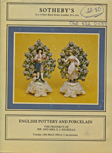 Sothebys 1982 Nicholls Collection English Pottery and Porcelain