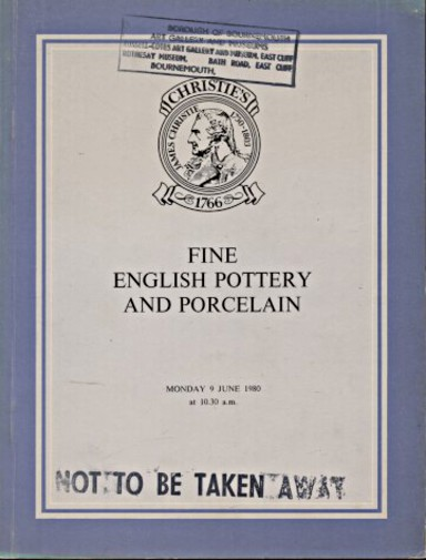 Christies 1980 Fine English Pottery and Porcelain