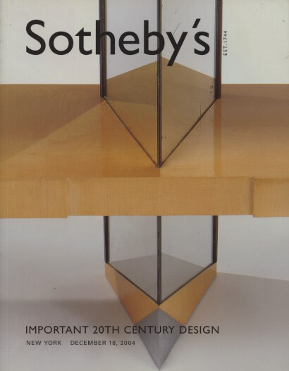 Sothebys 2004 Important 20th Century Design