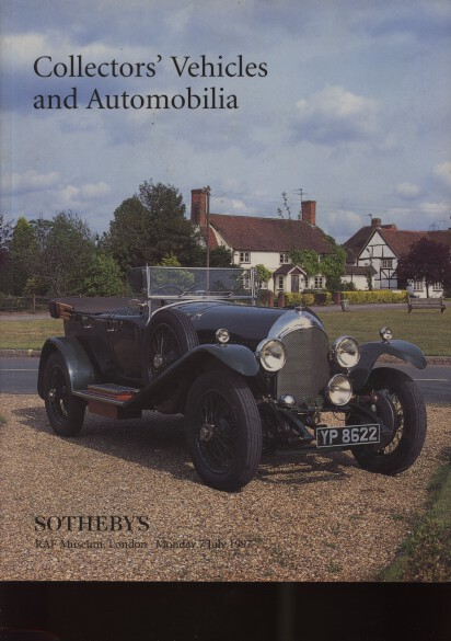Sothebys 1997 Collectors Vehicles & Automobilia