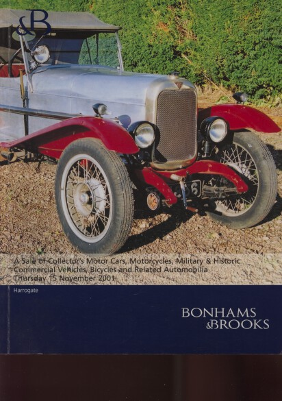 Bonhams & Brooks 2001 Collectors Motor Cars, Motorcycles etc