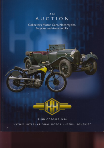 H&H 2011 Collectors Motor Cars, Motorcycles & Bicycles