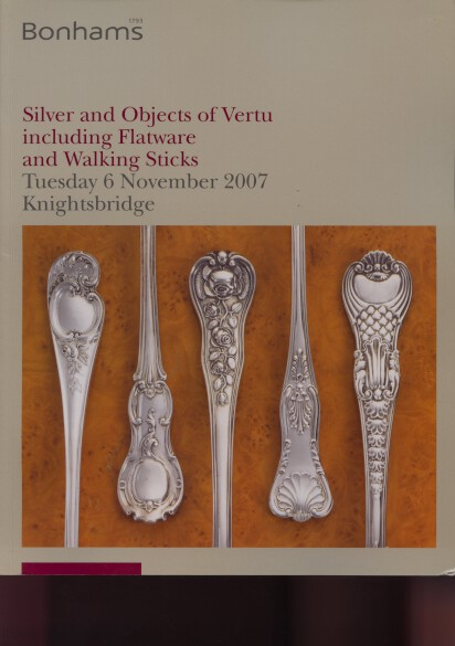 Bonhams 2007 Silver, Objects of Vertu, Walking Sticks