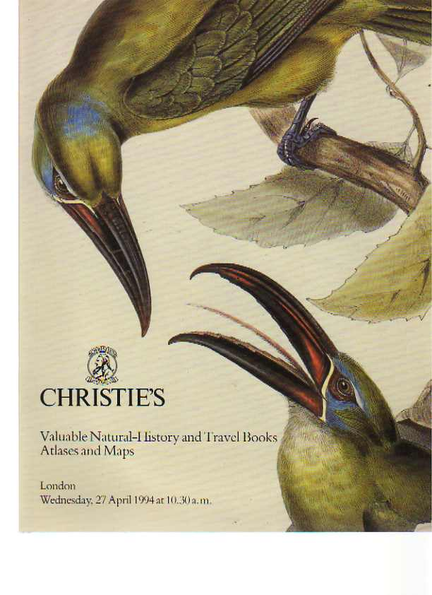 Christies 1994 Valuable Travel & Natural History Books