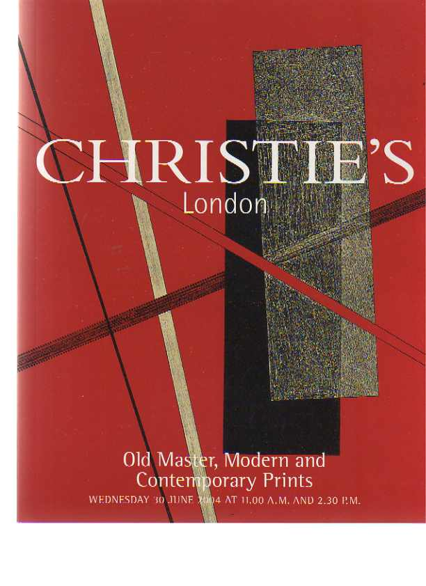 Christies 2004 Old Master, Modern & Contemporary Prints