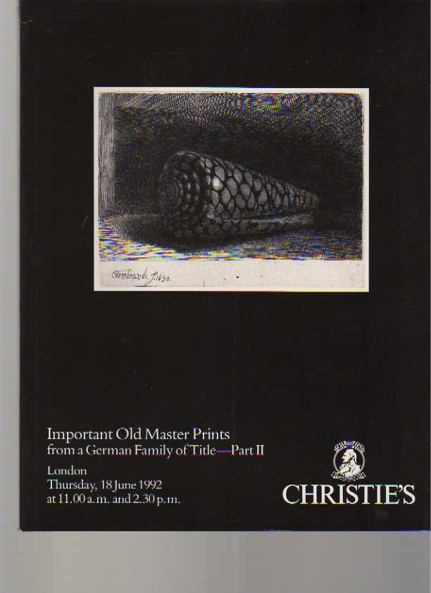 Christies 1992 Important Old Master Prints (pt II)