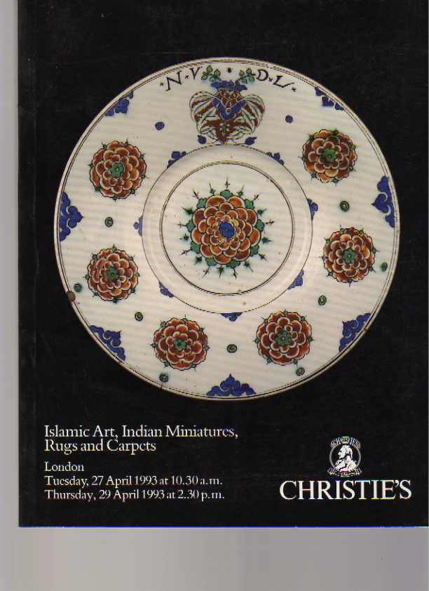 Christies 1993 Islamic Art, Indian Miniatures, Rugs & Carpets