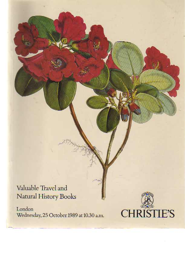 Christies 1989 Valuable Travel & Natural History Books