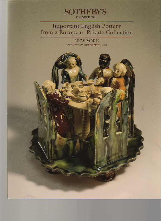 Sothebys 1993 Important English Pottery