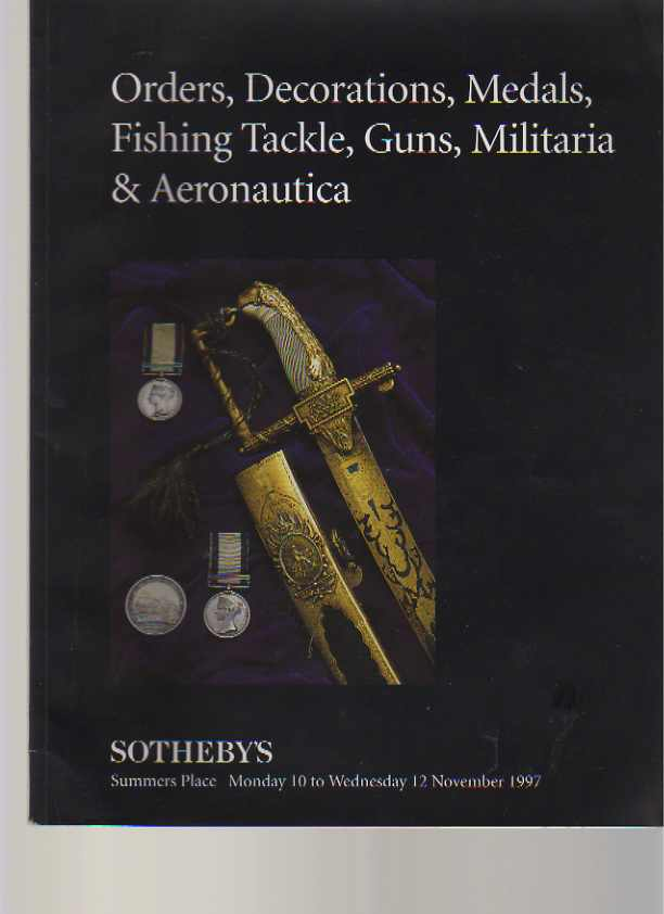 Sothebys 1997 Medals, Fishing Tackle, Guns, Aeronautica