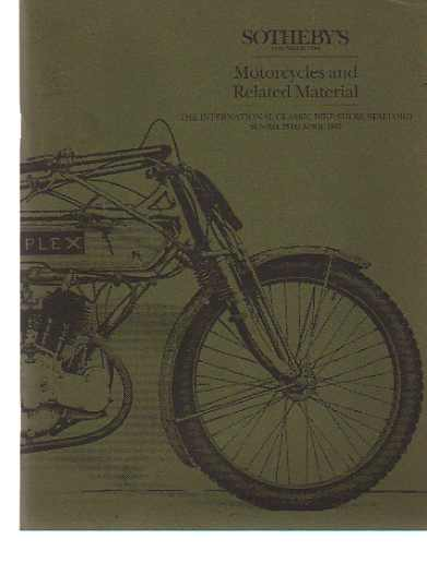 Sothebys 1993 Motorcycles & Related Material